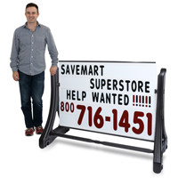 Swinger® Sidewalk Sign - White Deluxe