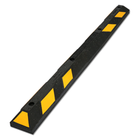 Parking Lot Wheel Stop, Reflective Yellow Strips