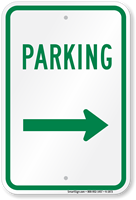 Parking Sign (right arrow)