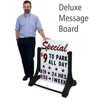 Swinger® Sidewalk Sign - White Delux