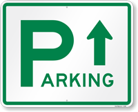 Directional Parking Sign (arrow pointing up)