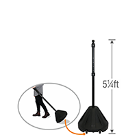 Big Boy XL Roll 'n' Pole Portable Sign Holder