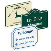 PermaCarve Routed Plastic Sign - 24 in. x 36 in.