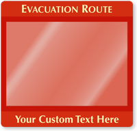 Custom Evacuation Map Holder
