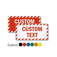 Customized Rectangle Shaped Sign with Striped Border
