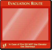 Do Not Use Elevator Evacuation Map Holder