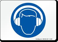 Hearing Protection Symbol Sign