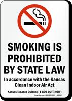 Kansas Smoking Prohibited Sign