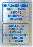 Bilingual Employees Must Wash Hands Before Returning to Work