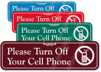 No Cell Phone Signs For Doors