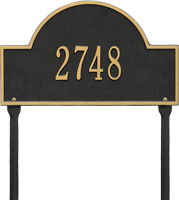Arch Marker Standard One Line Lawn Plaque