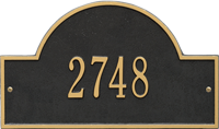 Arch Marker Standard One Line Wall Plaque