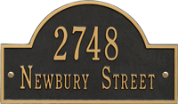 Arch Marker Standard Two Lines Wall Plaque