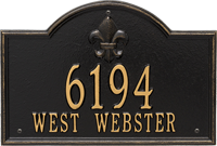 Bayou Vista Standard Wall Plaque, Two Lines