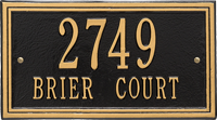 Double Line Standard Wall Plaque, Two Lines