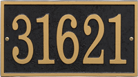 Fast And Easy Rectangle House Number Plaque