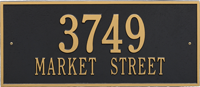 Hartford Estate Two Lines Wall Plaque