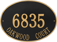 Hawthorne Oval Estate Wall Address Plaque, Two Lines