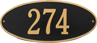 Madison Oval Standard Wall Plaque, One Line
