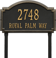 Williamsburg Estate Lawn Address Plaque, Two Lines