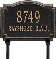 Williamsburg Standard Lawn Address Plaque, Two Lines