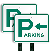 Parking Sign (arrow pointing left)