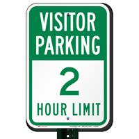 Visitor Parking 2 Hour Limit Sign