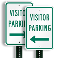 Visitor Parking Sign (arrow pointing left)
