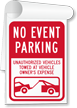 No Event Parking Sign Book
