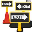 Exit Arrow ConeBoss Sign