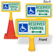 Reserved Parking Arrow ConeBoss Sign