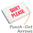 Quiet Please LED Exit Sign with Battery Backup