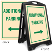 Additional Parking With Arrow Sidewalk Sign Kit