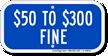 $50 to $300 Fine Aluminum ADA Handicapped Sign