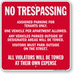 Assigned Parking For Tenants Only Sign