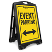 Bidirectional Event Parking Sidewalk Sign
