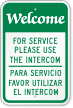 Bilingual For Service Please Use The Intercom Sign