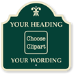 Custom Palladio Sign - Choose Clipart, Add Wording