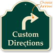 Customizable Directions Palladio Sign, Ahead Arrow
