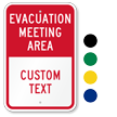Custom Evacuation Meeting Area Sign
