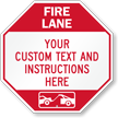 Custom Fire Lane, Tow-Away Area Sign