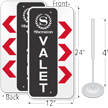 Custom Valet Parking Sign And Post Kit