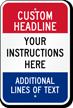 Custom Multi Colored Parking Sign