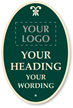 Create Oval Palladio Sign, Add Logo, Motif, Wording