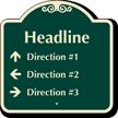 Custom Parking Lot Directory Signature Sign