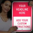 Custom Reflective Sign - Add Headline And Instructions