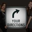 Custom Reflective Sign - Choose Arrow, Add Directions
