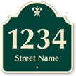Customizable Street Name and Number Palladio Sign