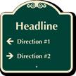 Customizable Parking Lot Directory Signature Sign