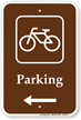 Parking Bike Bicycle Left Arrow Sign